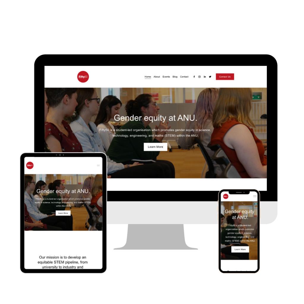 fifty50 anu web design tasmania responsive